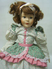 "Franklin Mint Heirloom Doll ""Mary had a Little Lamb"" 16"" tall COA VGUC"