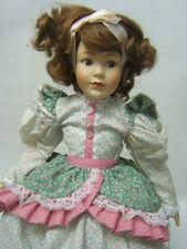 "Franklin Mint Heirloom Doll ""Mary had a Little Lamb"" 16"" tall COA VGUC"