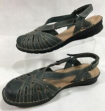 Women's Clarks Bendables Size 11W Slingback Closed Toe Adjustable Strap Shoes