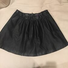 Hello Kitty Target Wms Black Faux Leather Circle Skirt Logo Embossed Sz Large