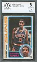 Walter Davis Rookie Card 1978-79 Topps #10 Phoenix Suns BGS BCCG 8