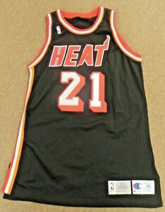 MIAMI HEAT Game Worn Used Jersey - Ledell Eackles