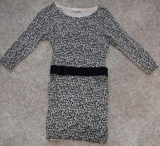 Twenty One Black and Cream w/Black belt dress or long top size Small