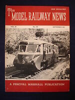 2 - Model Railway News - September 1952 - Contents page shown in photos