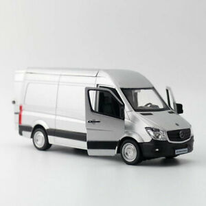 1:36 Scale Sprinter Van Cargo Model Car Diecast Toy Vehicle Pull Back Gray Kids