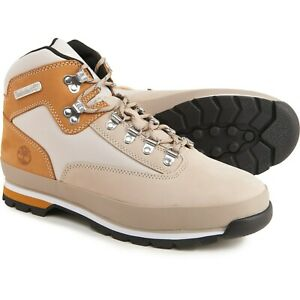 Timberland Euro Hiker Mid Hiking Boots Light Beige Nubuck Leather Tan Brown 10.5