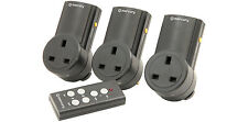 3 X Remote Control UK 240V Wireless Mains Sockets - Switch Adapter Plug In RF