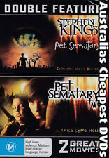 Pet Sematary / Pet Sematary 2  DVD NEW, FREE POSTAGE WITHIN AUSTRALIA REGION 4