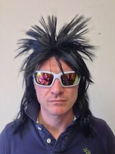 80's Spikey Wig Long Hair Mullet Hair (Red / White / Black) Fancy Dress Party