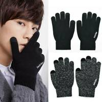 Men Women Knitted Gloves Touch Screen Winter Warm Fleece Lined Thermal Gloves