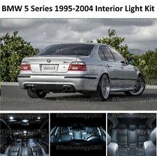 PREMIUM BMW 5 SERIES E39 SALOON INTERIOR FULL WHITE LED BULBS LIGHT KIT SET