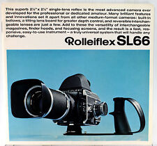 Original Rolleiflex SL66 Sales Brochure - 30 pages, printed in April 1970