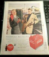"""Vintage COCA COLA  1949 Ad  5 Cent Coke Vending Machine  11"""" x 8"""""""