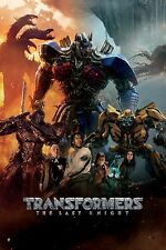 Transformers: The Last Knight Movie Poster (24x36) -Megatron, Optimus, Bubble v6