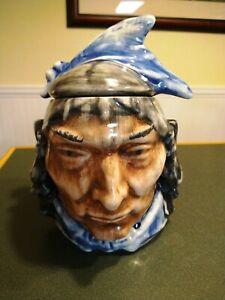 Vintage McCoy Indian Cookie Jar Blue Very Good Condition No Chips or Cracks