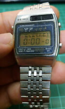 Rare Vintage Seiko Alarm Chronograph A158-5069A Lcd Watch Working!