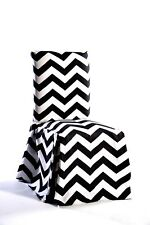 chevron dining chair cover black SET OF 2