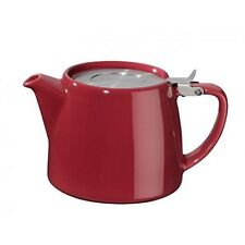 NEW BORDEAUX RED FORLIFE STUMP 18oz (530ml / 2 CUP) LOOSE LEAF TEAPOT & INFUSER