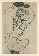 Egon Schiele Print Reproduction: Squatting Women - Fine Art Print