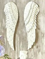 "2 PC Metal Angel Wings Wall Art Distressed Vintage Rustic Hang Home Decor 24""H"