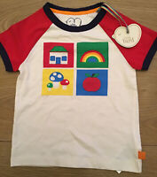 Little Bird By Jools Oliver Retro House / Rainbow Top / T Shirt 12-18 Months 🌈