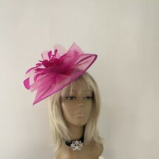 ff522530 New Women's Fuchsia Pink Hatinator Fascinator Mother Of The Bride Weddings  Ascot