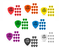 12 Tortex Flow Guitar Picks STANDARD Red Orange Yellow Green Blue Purple Black