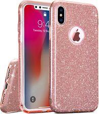 COVER Custodia Glitter Morbida Silicone GEL per Apple iPhone X Rosa