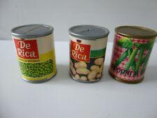 boites de conserves légumes pour épicerie maison de poupée