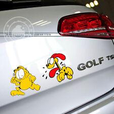 "1pcs Cute Garfield Cat Car Decal Sticker Motorcycle Motors New 9.8""x4.3"""