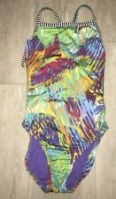 Dolfin Uglies Girls  size 14 ?  colorful print one piece Swimsuit