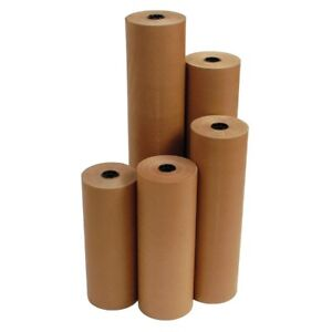 """24"""" 40 lbs 760' Brown Kraft Paper Roll Shipping Wrapping Cushioning Void Fill"""