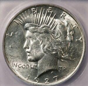 1927-D 1927 Peace Dollar ICG MS61 Flashy luster!