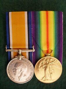 ORIGINAL NAMED AUSTRALIAN WORLD WAR ONE BRITISH WAR MEDAL AND VICTORY MEDAL