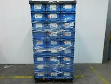Lot of 54 Orbis Nso2415-9 Plastic Straight-Wall Containers 24x15x9 Blue T128431
