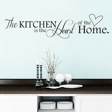 Kitchen Letter DIY Removable Art Vinyl Quote Wall Sticker Decals Mural Home Deco