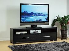 """14841 72"""" 72 Inch 72 in Television Entertainment Center Console Black TV Stand"""