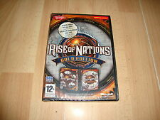 RISE OF NATIONS GOLD EDITION CON SUS DOS EXPANSIONES PARA PC NUEVO PRECINTADO