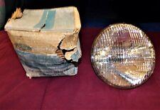 1955 T-BIRD & FORD NOS FORD SCRIPT (FOMOCO) 6 VOLT PR OF HEADLIGHT LENS IN BOX.
