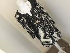 Marks And Spencer Black Mix Multi Top With Tiny Sequin Detail BNWT £29.50 Sz 8