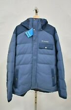 COLUMBIA XL Blue Winter Challenger Hooded Jacket