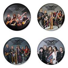 Aerosmith, A - 4 chapas, pin, badge, button