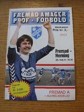 23/05/1982 Fremad Valby v Herning  . No obvious faults, unless description previ