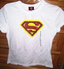 JUNIORS SUPERMAN LOGO SHIRT JERRY LEIGH SIZE JR LARGE