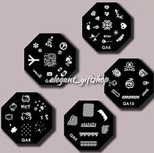 5pcs DIY Nail Art Decoration Metal Stamp Plate Image Template (QA6-10)