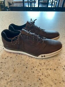 UNDER ARMOUR GOLF Shoes Brown Spikeless Adult 10 Mens