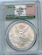 2016 Mexico 1 oz Silver Onza Libertad MS70 PCGS .999 Graded Coin