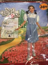 Rubies Girls Sz Medium Dorothy Wizard of Oz Dress Costume Brand New!!