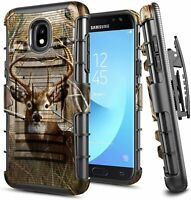 For Samsung Galaxy J3 V 2018 Holster Case Armor Belt Clip Kickstand Phone Cover