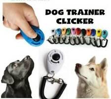Mascota Perro & Gato Entrenamiento Clicker Cachorro botón de clic de Entrenamiento Obediencia + Correa para la muñeca